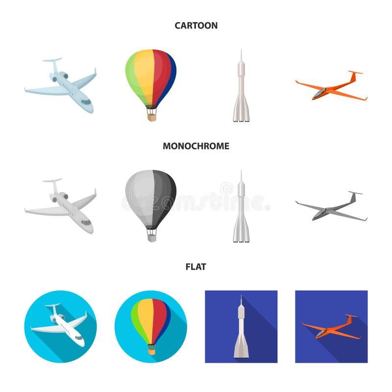 Odosobniony przedmiot transportu i przedmiota logo Kolekcja transport i szybownictwo akcyjna wektorowa ilustracja royalty ilustracja