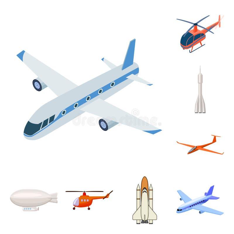 Odosobniony przedmiot transportu i przedmiota symbol Set transportu i szybownictwa akcyjny symbol dla sieci ilustracji