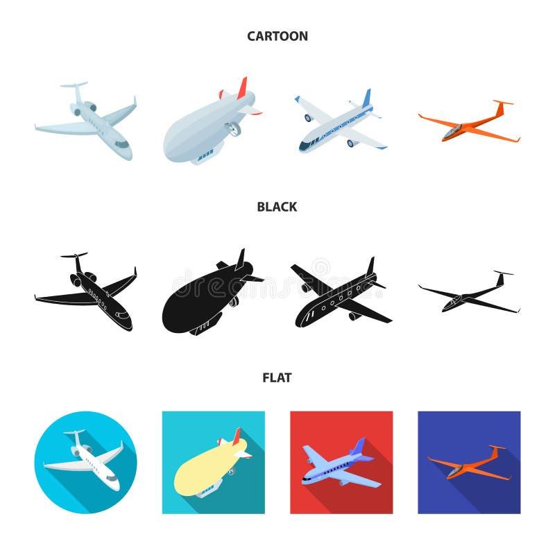 Odosobniony przedmiot transportu i przedmiota symbol Set transport i szybownictwo akcyjna wektorowa ilustracja ilustracja wektor