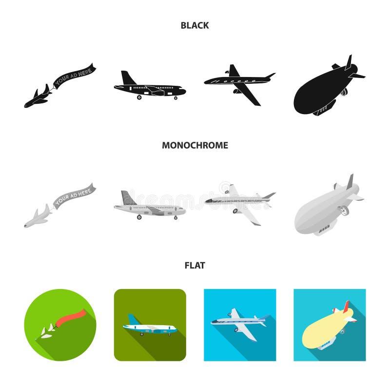 Odosobniony przedmiot transportu i przedmiota znak Kolekcja transportu i szybownictwa akcyjny symbol dla sieci royalty ilustracja