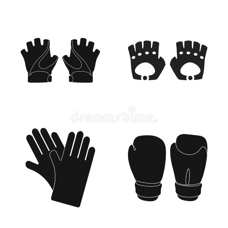 Odosobniony przedmiot trykotowa i pastuch ikona Set trykotowy i ręka akcyjny symbol dla sieci ilustracji
