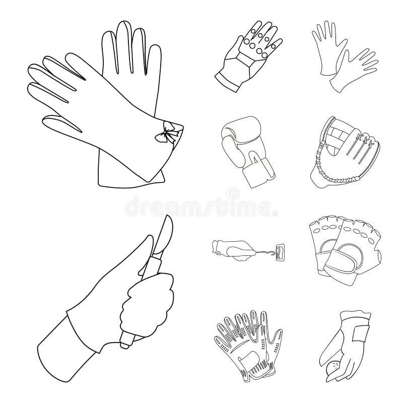 Odosobniony przedmiot trykotowy i pastuch symbol Kolekcja trykotowy i ręka akcyjny symbol dla sieci ilustracja wektor