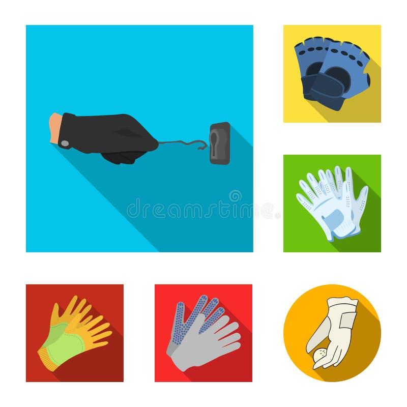 Odosobniony przedmiot trykotowy i pastuch symbol Kolekcja trykotowa i ręka akcyjna wektorowa ilustracja ilustracja wektor