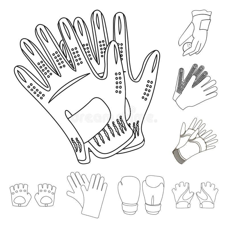 Odosobniony przedmiot trykotowy i pastuch symbol Set trykotowy i ręka akcyjny symbol dla sieci royalty ilustracja