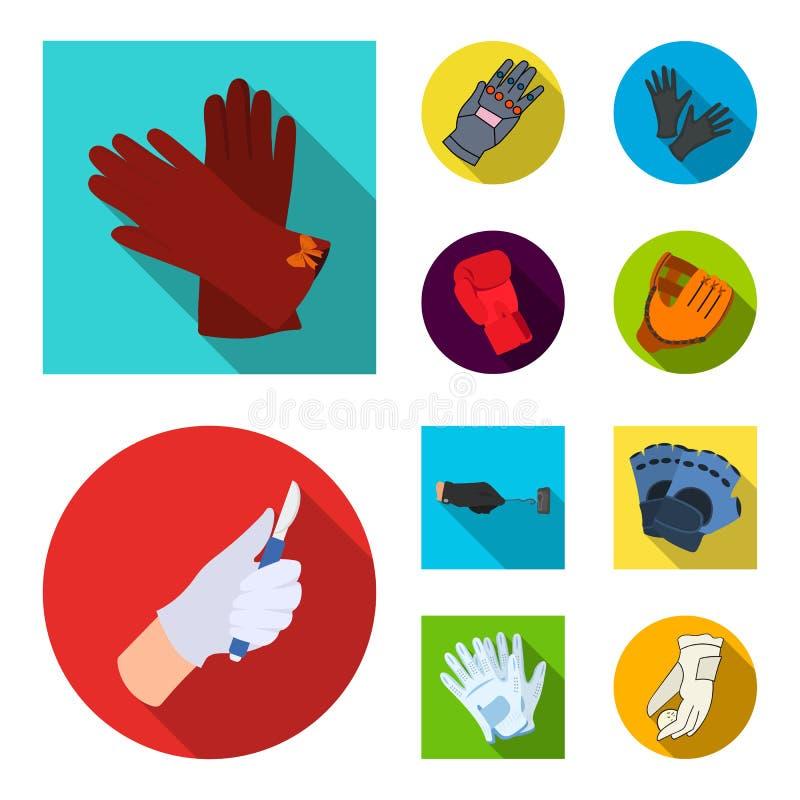 Odosobniony przedmiot trykotowy i pastuch symbol Set trykotowa i ręka akcyjna wektorowa ilustracja ilustracja wektor