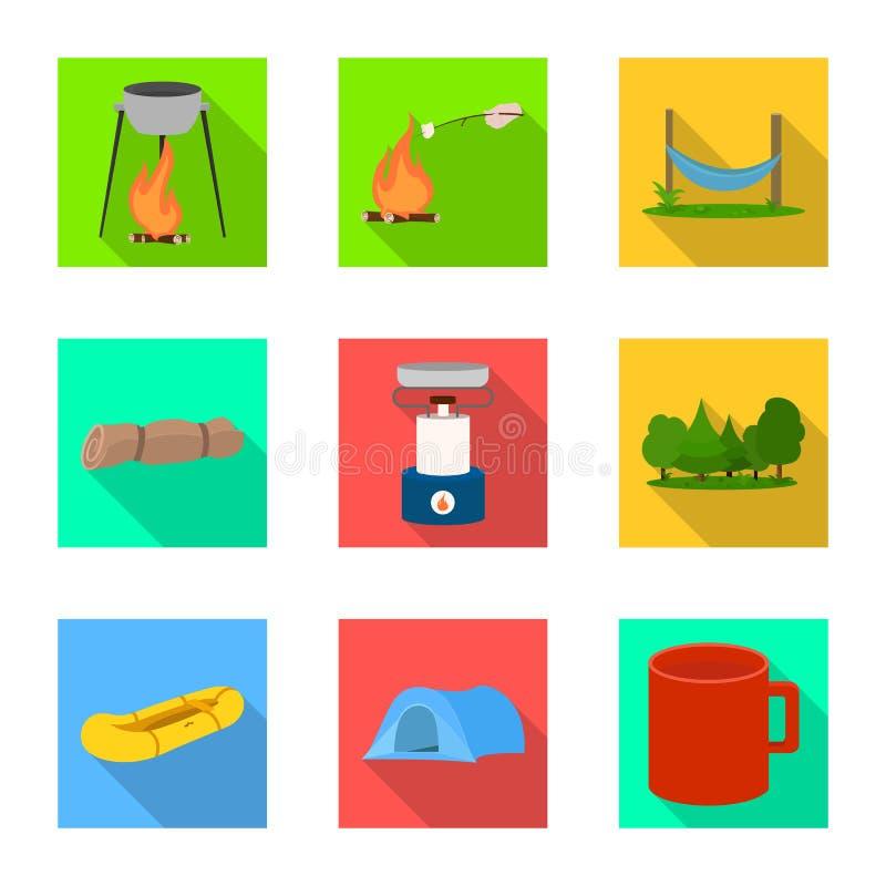 Odosobniony przedmiot turystyki i wycieczek ikona Kolekcja turystyki i odpoczynku wektorowa ikona dla zapasu ilustracji