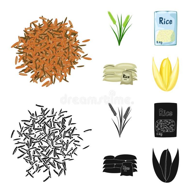 Odosobniony przedmiot uprawa i ekologiczna ikona Set uprawa i kucharstwo akcyjna wektorowa ilustracja royalty ilustracja