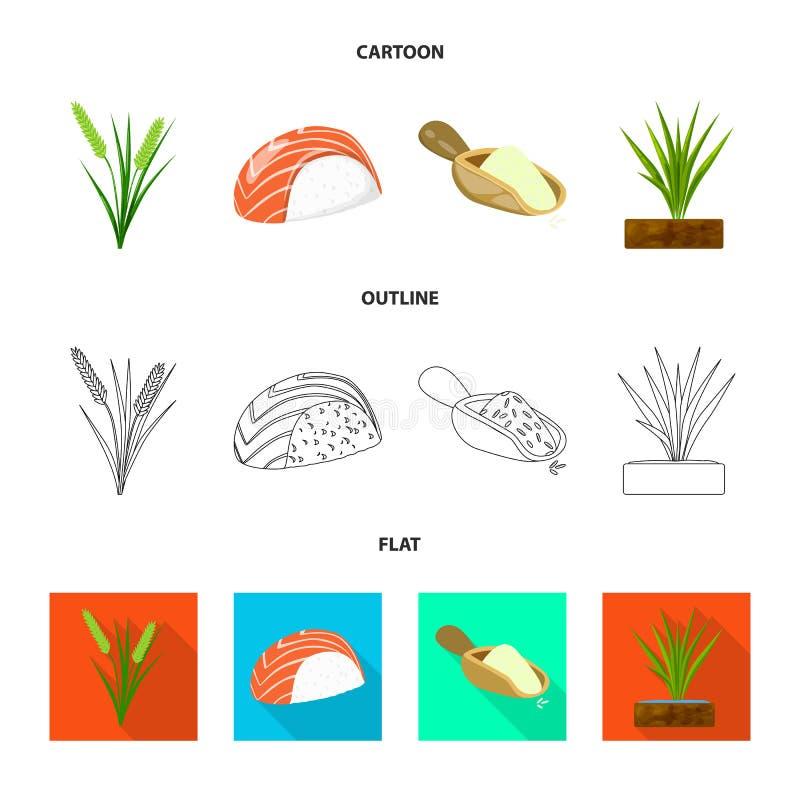 Odosobniony przedmiot uprawa i ekologiczna ikona Set uprawa i kucharstwo akcyjna wektorowa ilustracja ilustracji