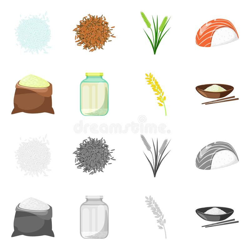 Odosobniony przedmiot uprawa i ekologiczna ikona Set uprawa i kucharstwo akcyjny symbol dla sieci ilustracji
