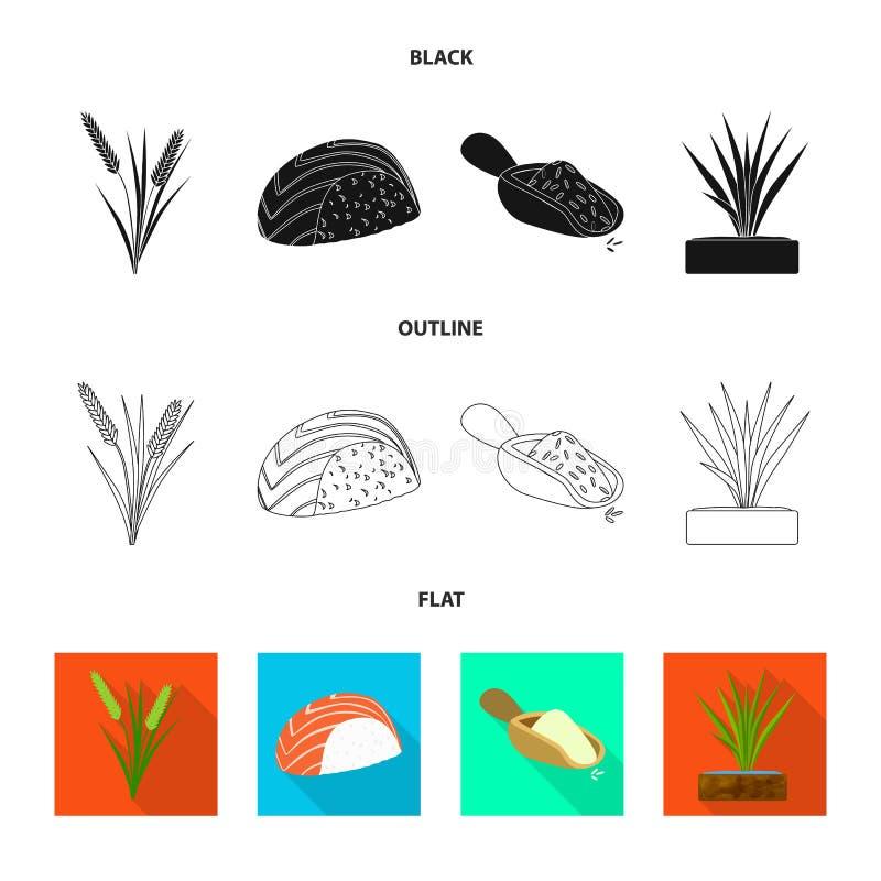 Odosobniony przedmiot uprawa i ekologiczny logo Kolekcja uprawa i kucharstwo akcyjna wektorowa ilustracja royalty ilustracja
