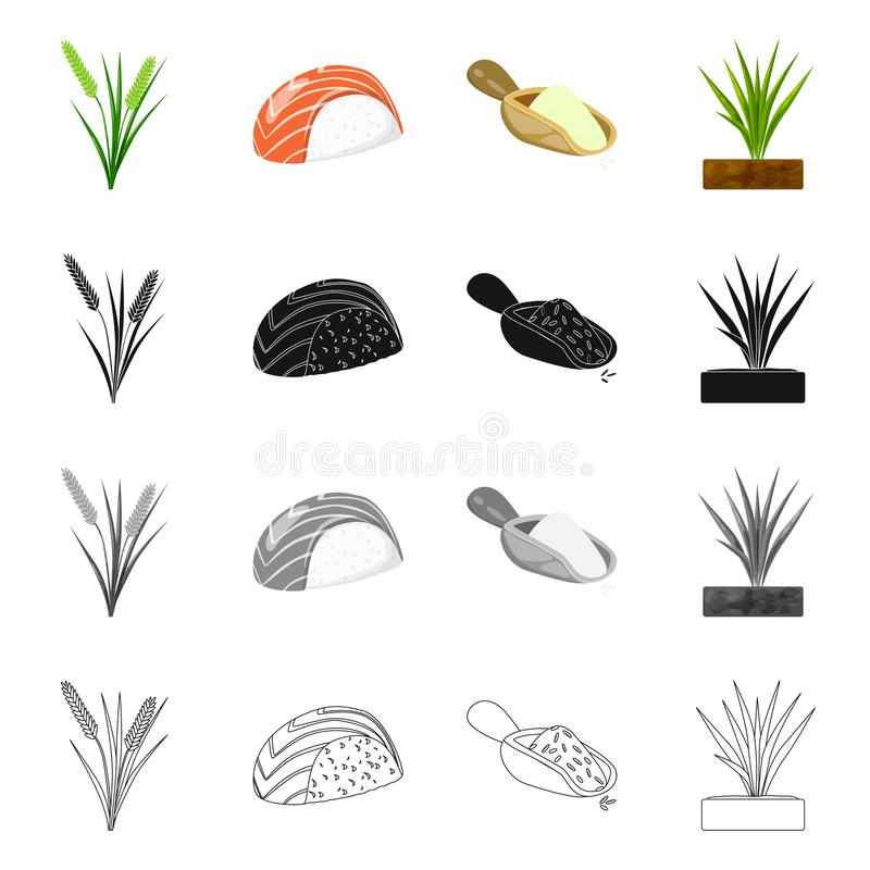 Odosobniony przedmiot uprawa i ekologiczny znak Kolekcja uprawa i kucharstwo akcyjny symbol dla sieci ilustracji
