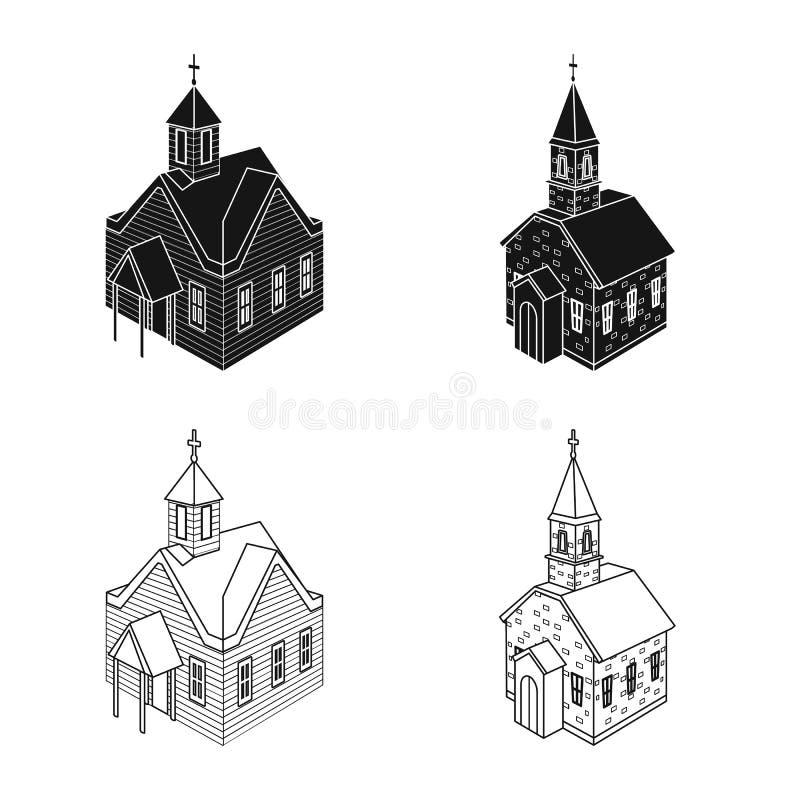 Odosobniony przedmiot ?wi?tynna i historyczna ikona Set ?wi?tynia i wiary akcyjna wektorowa ilustracja ilustracja wektor