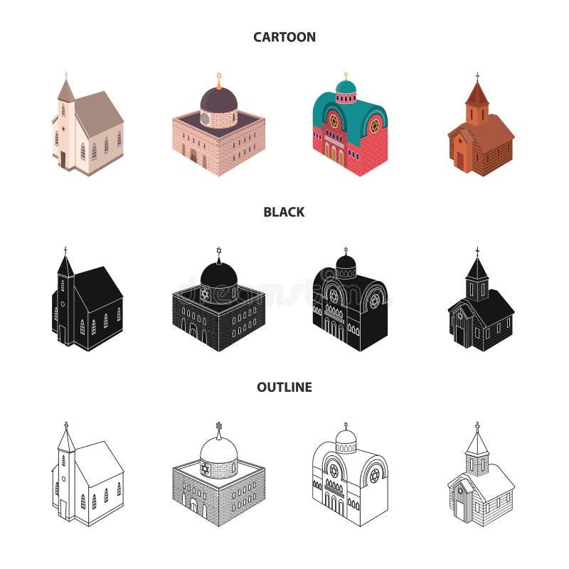 Odosobniony przedmiot ?wi?tynny i historyczny znak Kolekcja ?wi?tynia i wiary akcyjna wektorowa ilustracja royalty ilustracja