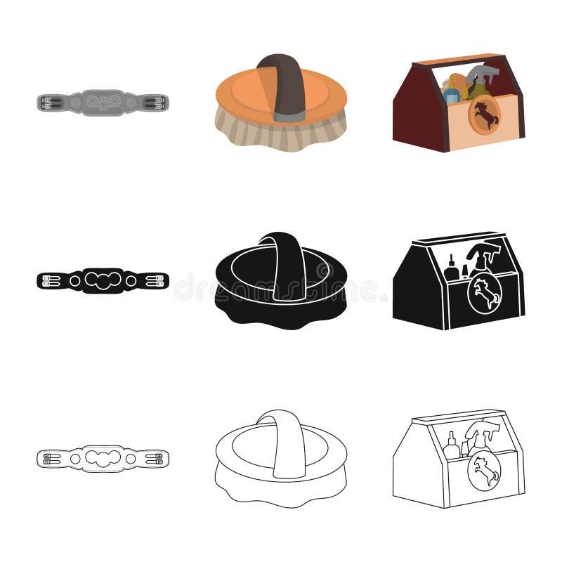 Odosobniony przedmiot wyposa?enia i jazdy symbol Kolekcja wyposa?enia i rywalizacji wektorowa ikona dla zapasu ilustracji