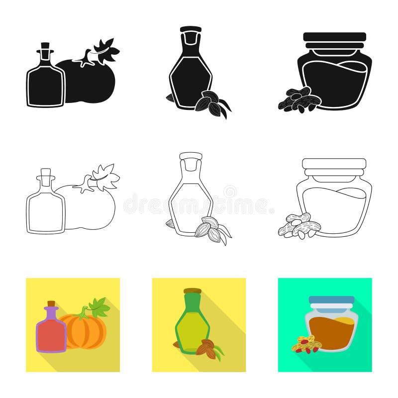 Odosobniony przedmiot zdrowy i jarzynowy logo Set zdrowy i rolnictwo akcyjny symbol dla sieci ilustracji