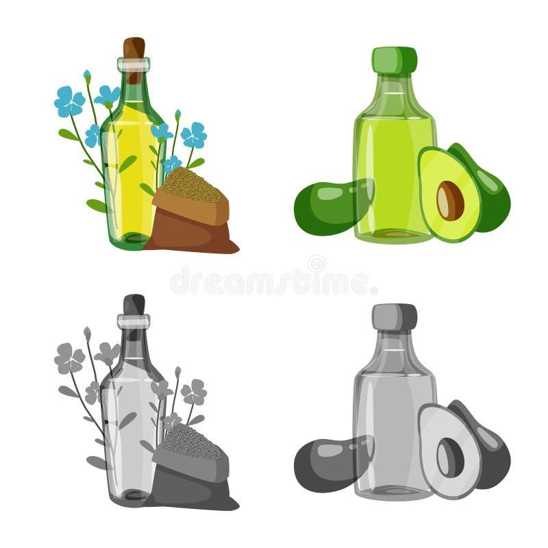 Odosobniony przedmiot zdrowy i jarzynowy znak Kolekcja zdrowa i rolnictwo akcyjna wektorowa ilustracja ilustracji