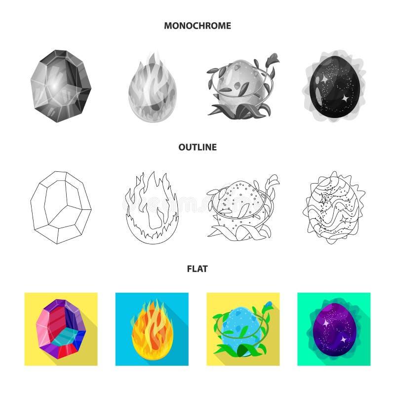 Odosobniony przedmiot zwierzęcy i prehistoryczny symbol Set zwierzęcy i śliczny akcyjny symbol dla sieci ilustracji