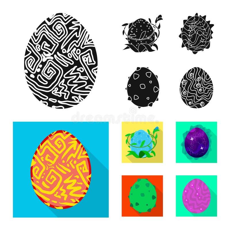 Odosobniony przedmiot zwierzęcy i prehistoryczny symbol Set zwierzęca i śliczna akcyjna wektorowa ilustracja ilustracji