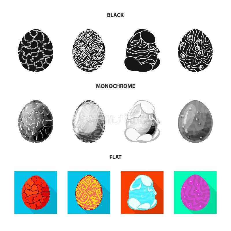 Odosobniony przedmiot zwierzęcy i prehistoryczny symbol Set zwierzęca i śliczna wektorowa ikona dla zapasu ilustracja wektor