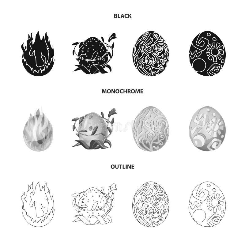 Odosobniony przedmiot zwierzęcy i prehistoryczny znak Kolekcja zwierzęcy i śliczny akcyjny symbol dla sieci ilustracji