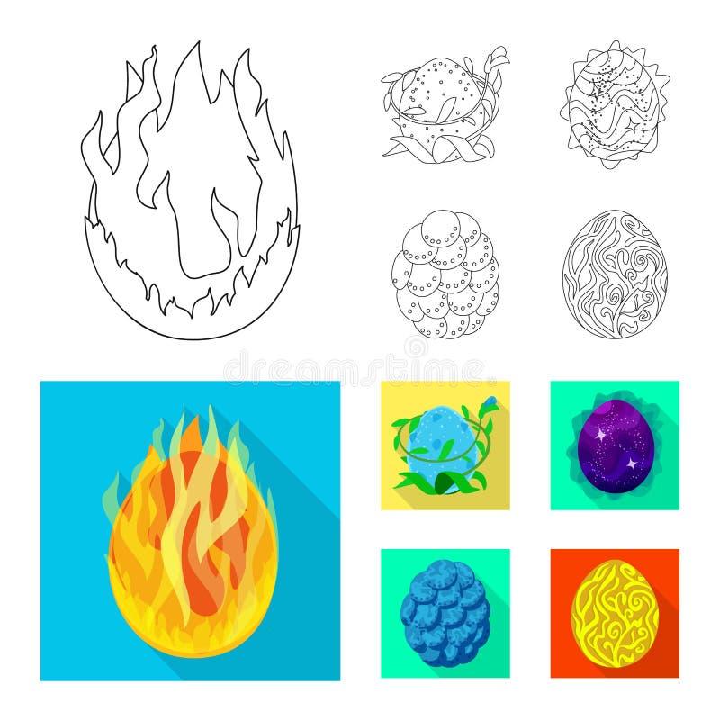 Odosobniony przedmiot zwierzęcy i prehistoryczny znak Set zwierzęca i śliczna wektorowa ikona dla zapasu royalty ilustracja