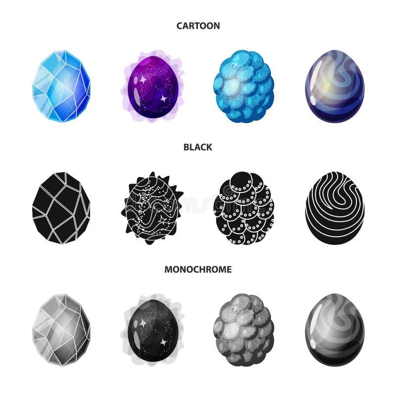 Odosobniony przedmiot zwierzęcy i prehistoryczny symbol Kolekcja zwierzęcy i śliczny akcyjny symbol dla sieci royalty ilustracja