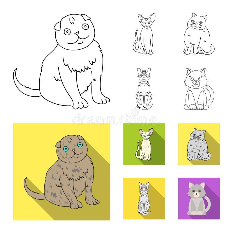 Odosobniony przedmiot zwierz?cia domowego i sphynx ikona Kolekcja zwierz? domowe i zabawy akcyjna wektorowa ilustracja ilustracji