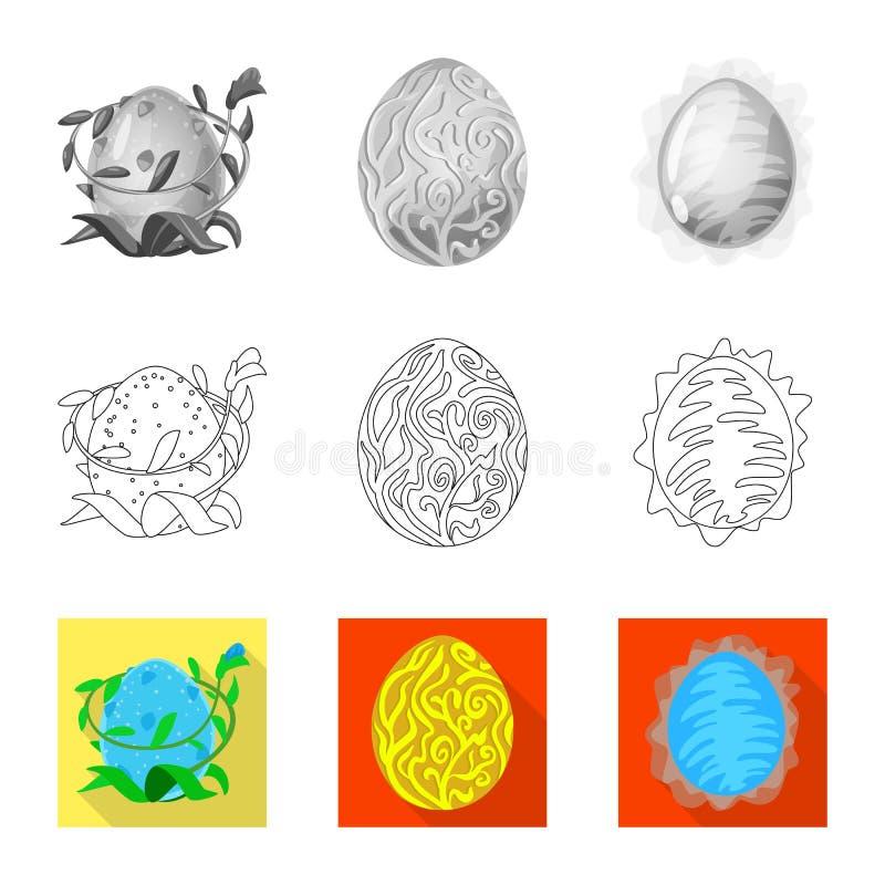 Odosobniony przedmiot zwierz?cy i prehistoryczny symbol Kolekcja zwierz?ca i ?liczna wektorowa ikona dla zapasu ilustracji
