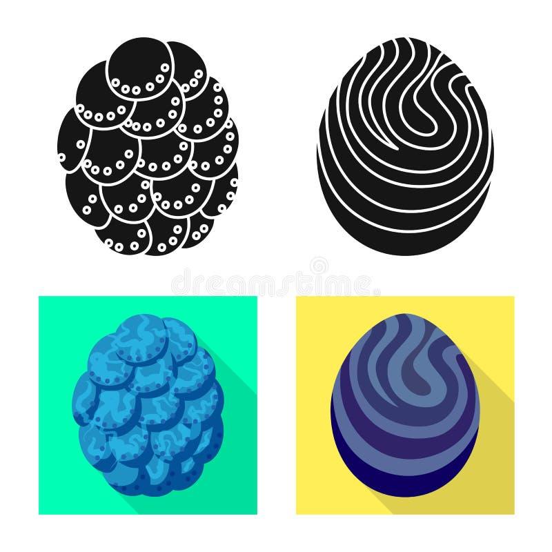 Odosobniony przedmiot zwierz?cy i prehistoryczny symbol Kolekcja zwierz?cy i ?liczny akcyjny symbol dla sieci royalty ilustracja