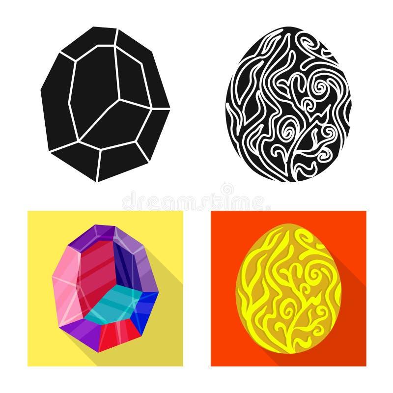 Odosobniony przedmiot zwierz?cy i prehistoryczny symbol Set zwierz?ca i ?liczna akcyjna wektorowa ilustracja royalty ilustracja