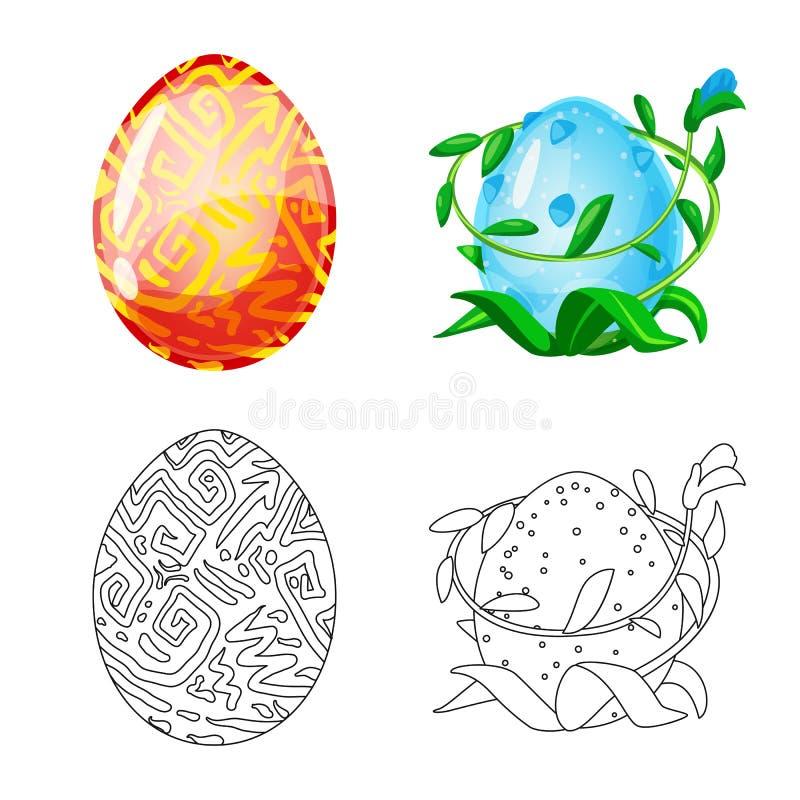 Odosobniony przedmiot zwierz?cy i prehistoryczny symbol Set zwierz?ca i ?liczna wektorowa ikona dla zapasu ilustracja wektor