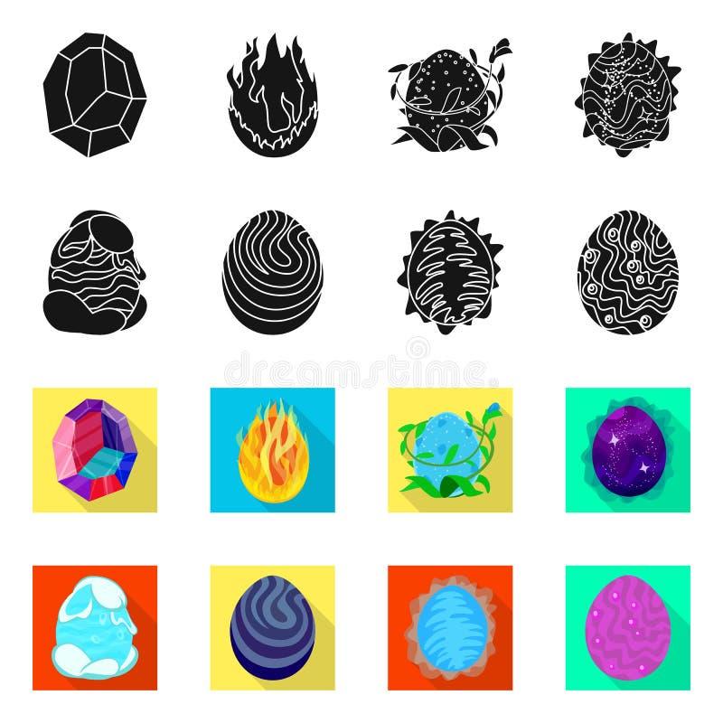 Odosobniony przedmiot zwierz?cy i prehistoryczny znak Kolekcja zwierz?ca i ?liczna wektorowa ikona dla zapasu ilustracji