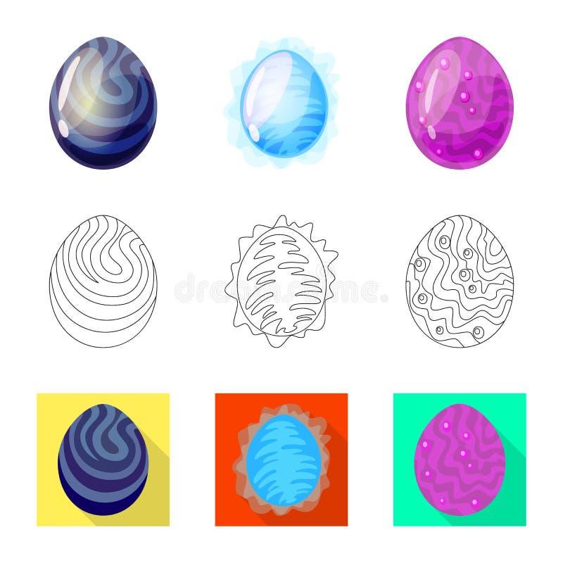 Odosobniony przedmiot zwierz?cy i prehistoryczny znak Kolekcja zwierz?cy i ?liczny akcyjny symbol dla sieci royalty ilustracja