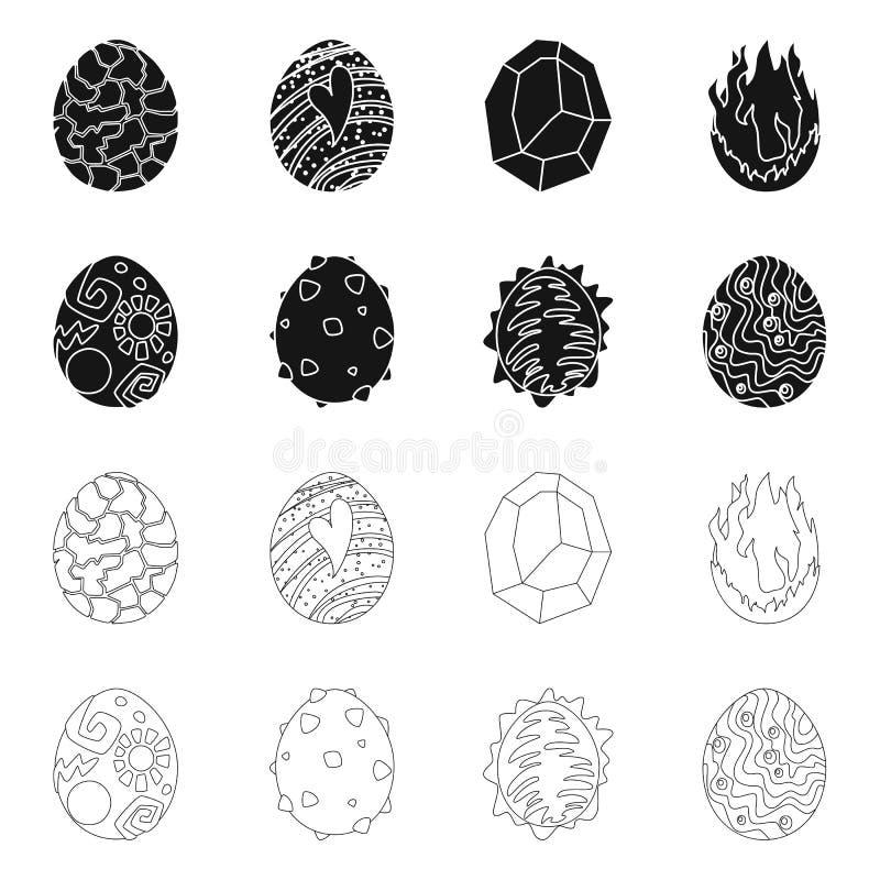 Odosobniony przedmiot zwierz?cy i prehistoryczny znak Set zwierz?ca i ?liczna akcyjna wektorowa ilustracja ilustracji