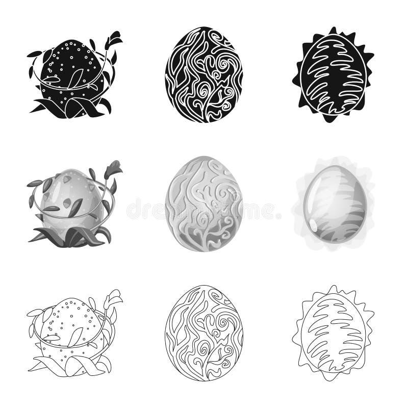 Odosobniony przedmiot zwierz?cy i prehistoryczny znak Set zwierz?ca i ?liczna akcyjna wektorowa ilustracja royalty ilustracja