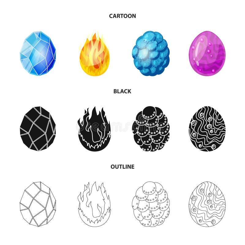 Odosobniony przedmiot zwierz?cy i prehistoryczny znak Set zwierz?cy i ?liczny akcyjny symbol dla sieci royalty ilustracja