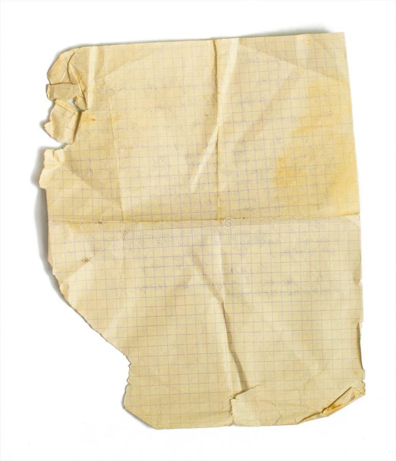 odosobniony przyskrzyniający matematyki stary papieru prześcieradło obraz royalty free