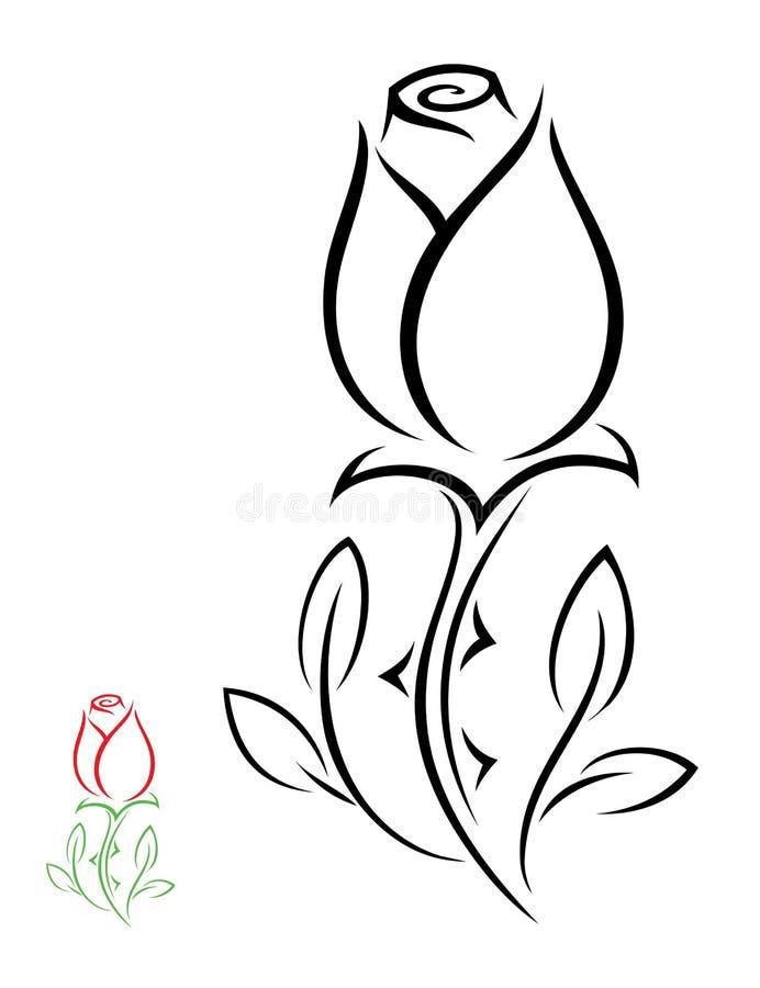 Download Odosobniony róża kwiat ilustracja wektor. Ilustracja złożonej z ilustracje - 28961044