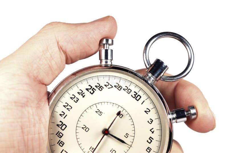 odosobniony ręka zegar zdjęcie royalty free