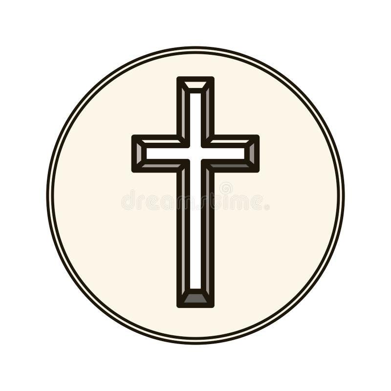 Odosobniony religia krzyża projekt royalty ilustracja