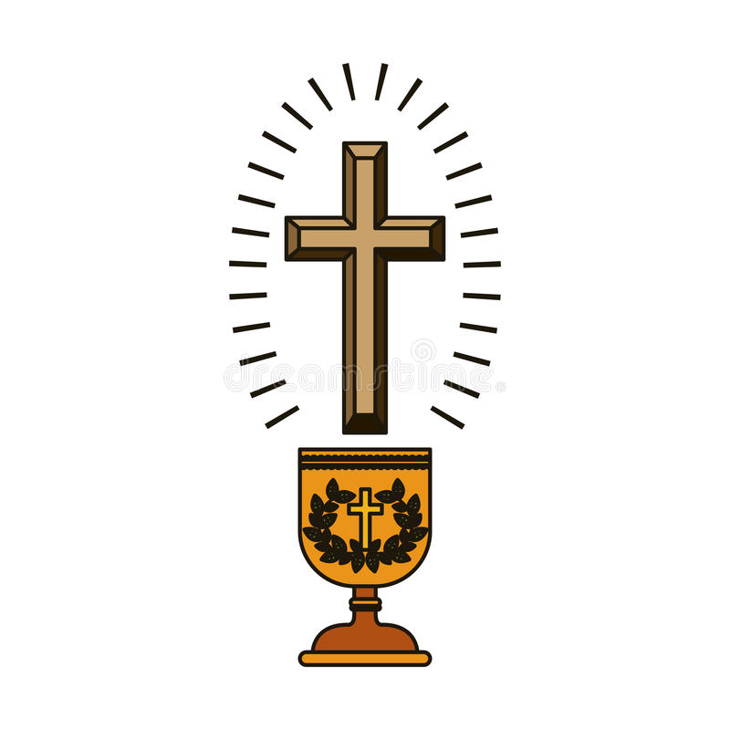 Odosobniony religia krzyża projekt ilustracji