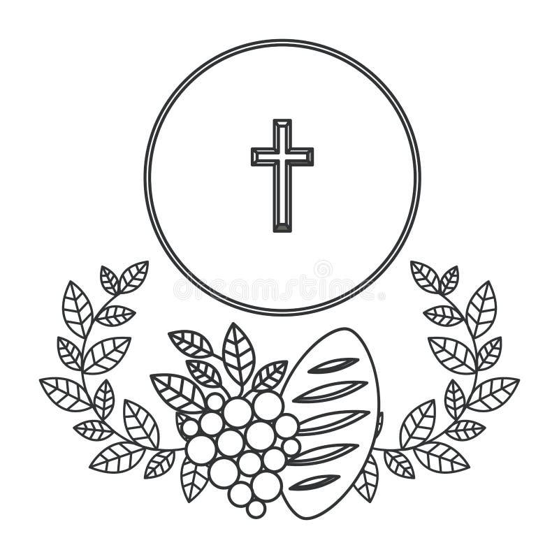 Odosobniony religia krzyża projekt ilustracja wektor