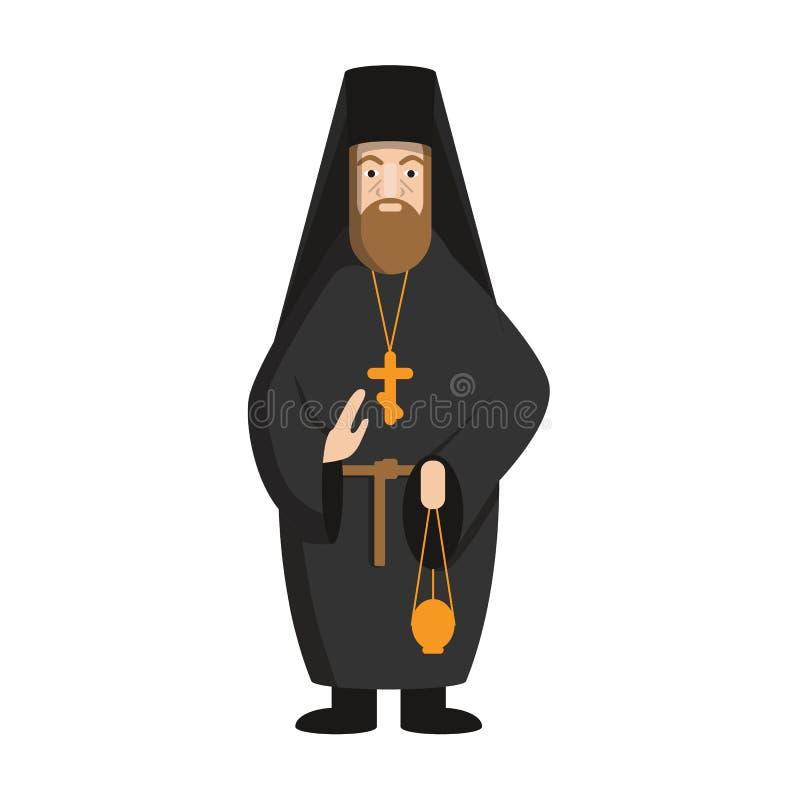 Odosobniony rosyjski pope ilustracji
