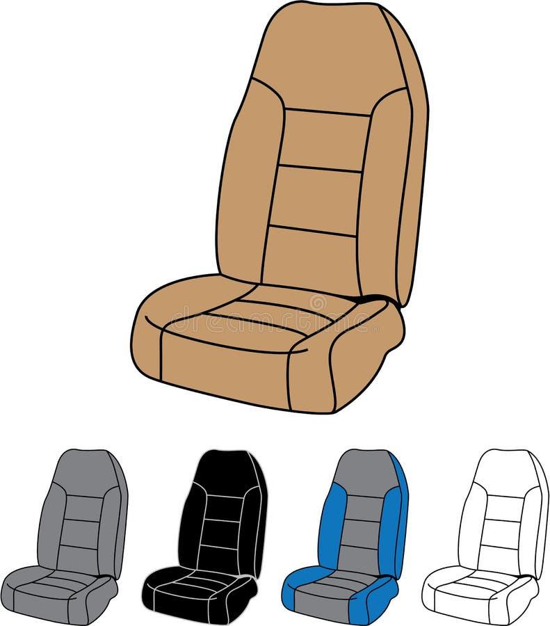 Odosobniony Samochodowy Seat royalty ilustracja
