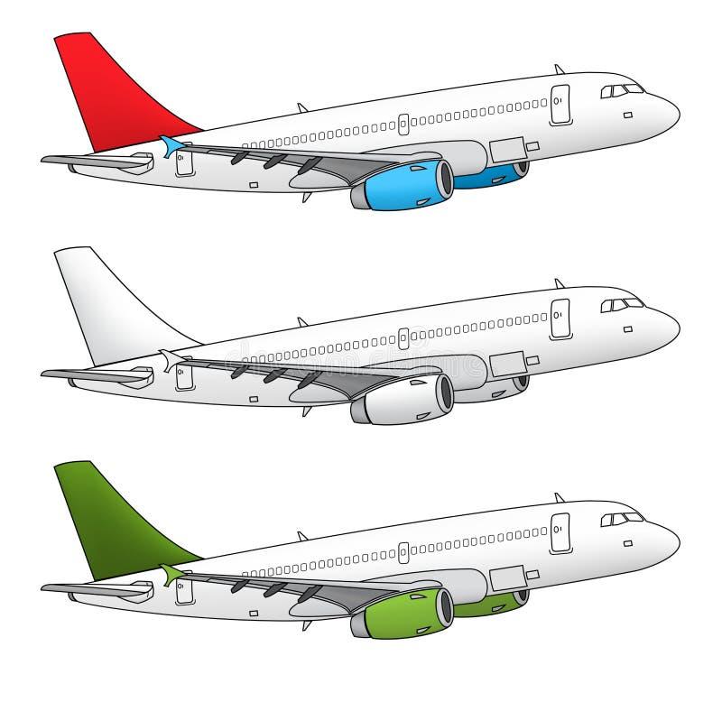 Odosobniony samolotowy projekt ilustracji