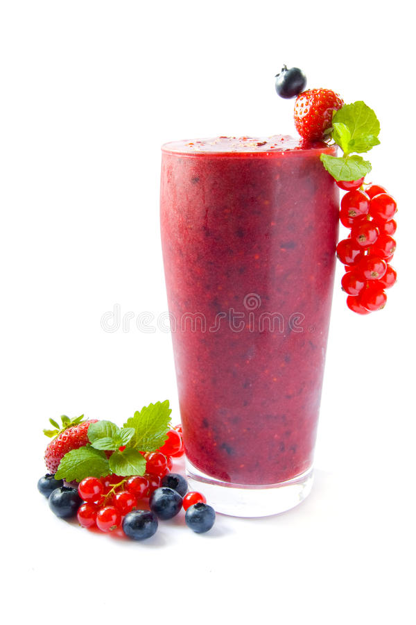 odosobniony smoothie obrazy stock