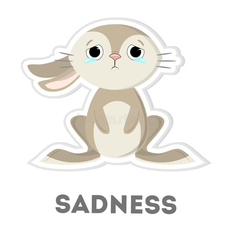 Odosobniony smutny królik ilustracji
