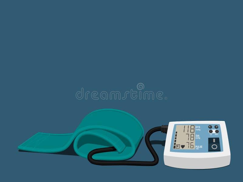 Odosobniony sphygmomanometer royalty ilustracja