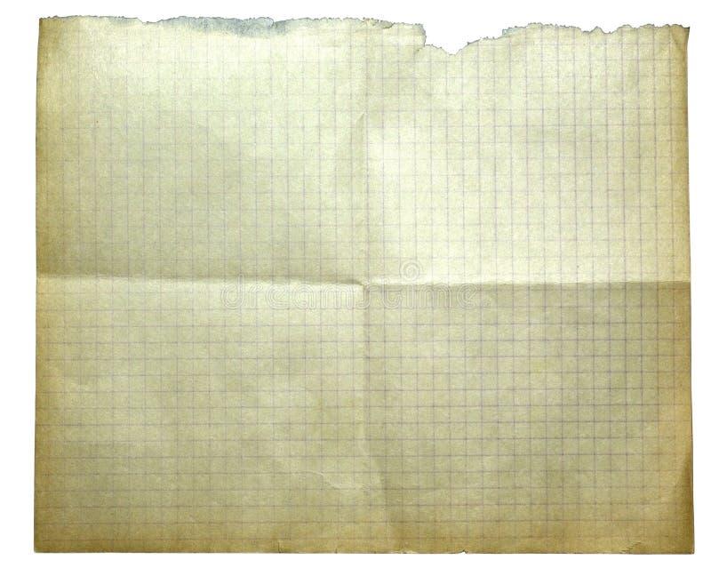 Download Odosobniony stary papier zdjęcie stock. Obraz złożonej z wyznaczający - 7407520