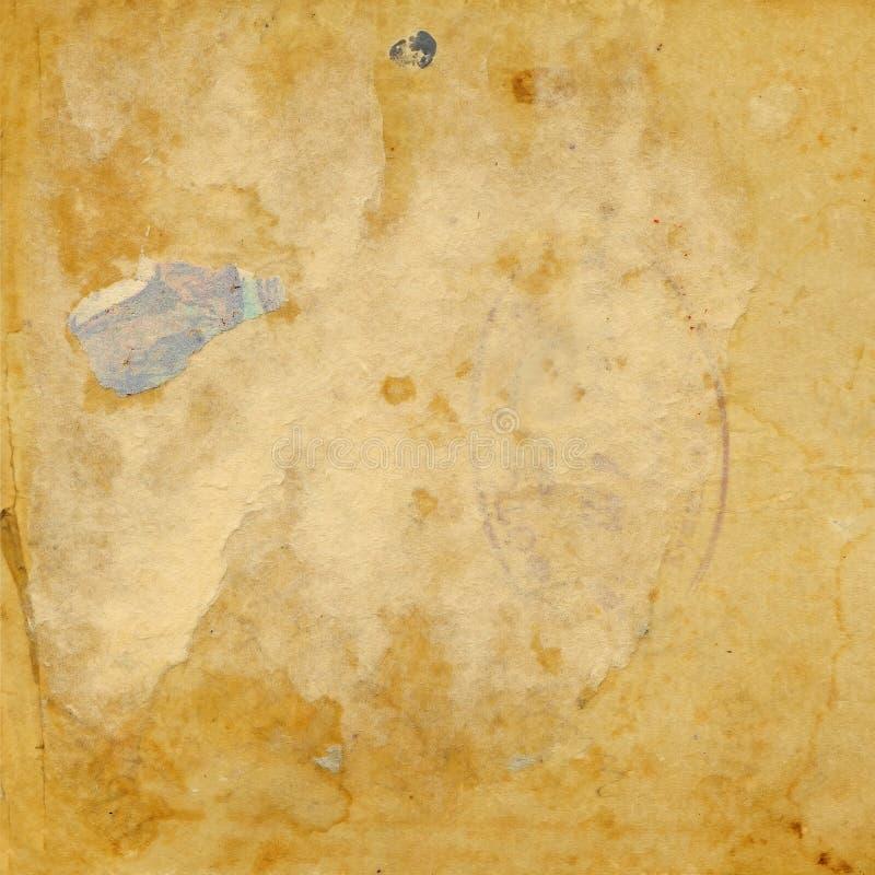 odosobniony stary papierowy retro rozdzierający rocznik obraz stock